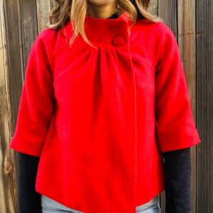 Red Old Navy Pea Coat